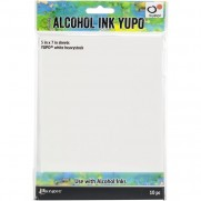 Tim Holtz papiers pour Alcohol Ink blancs 144 lbs.