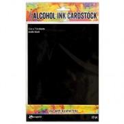 Tim Holtz papiers pour Alcohol Ink Noir mat
