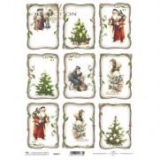 ITD Collection Étiquettes Joyeux Noël