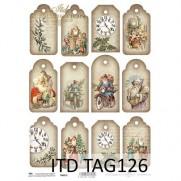 ITD Collection Étiquettes Père Noël vintage