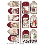 ITD Collection Étiquettes Noël vintage