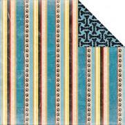 Bo Bunny Papier Happy Tails Stripes