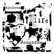 Masque Life Remembered 6 X 6 pouces