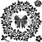 Masque Couronne de Noël 6 X 6 pouces