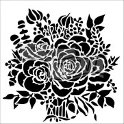 Masque Bouquet de Roses 6 X 6 pouces