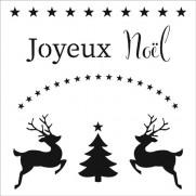 """Masque Joyeux Noël 6""""X6"""""""