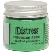 Distress Embossing Glaze Cracked Pistachio