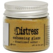 Distress Embossing Glaze Fossilized Amber