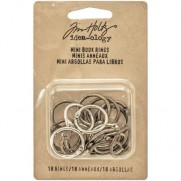 "Tim Holtz Anneaux 0.75"" Silver, Antique Brass & Antique Copper"