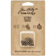 Tim Holtz bélières (clips) Antique Nickel