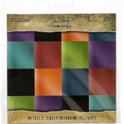 "Tim Holtz Pad 8""X8"" Jewel"