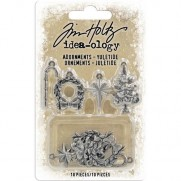 Tim Holtz Ornements Yuletide antique argent