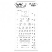 Tim Holtz Stencil Eye Chart
