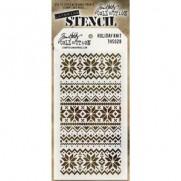 Tim Holtz Stencil Holiday Knit