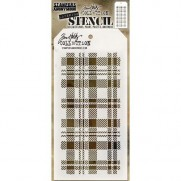 Tim Holtz Stencil Plaid