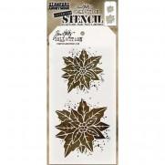 Tim Holtz Stencil Poinsettia Due