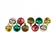 Cousin Charms mini Clochettes rouge/vert/or