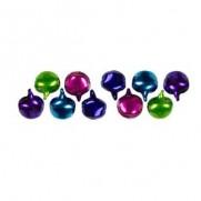 Cousin Charms mini Clochettes rose/violet/bleu