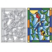 Tutti Designs Die Vitrail Oiseaux