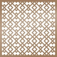 "Ultimate Crafts Stencil 6""X6"" Geometrique"