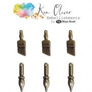 Ken Oliver Embellissements en métal Art vintage