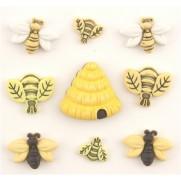 Abeilles et ruche BG