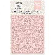 Echo Park Plaque Embossage Wedding Bliss, Dainty Damask