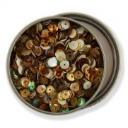 Buttons Galore Sequins 6mm Neutre