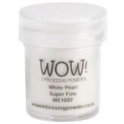 WOW Poudre embossage Super Fine Blanc perle