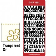 Peel Off Lettres Transparent Or