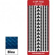 Peel Off Coins et Bordures Prismatiques Étoiles bleu