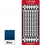 Peel Off Bordures Prismatiques Sapins bleu