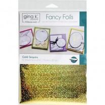 """Gina K Designs Fancy Foil 6""""X8"""" Sequins Or"""