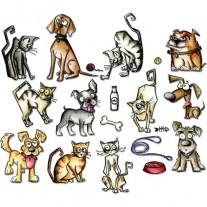 Sizzix Die Framelits Mini Crazy Cats & Dogs