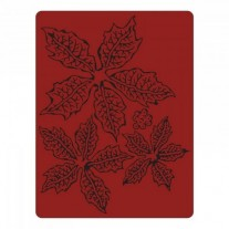 Sizzix Plaque embossage Tattered Poinsettia