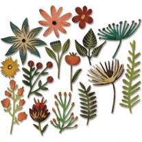 Sizzix Thinlits Die - Floral 3
