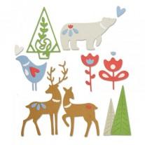 Sizzix Die Thinlits Éléments de Noël