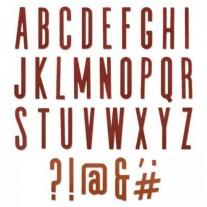 Sizzix Die Thinlits Lettes majuscules