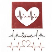 Sizzix Die Thinlits Battements de Coeur