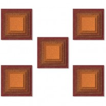 Sizzix Die Thinlits Tuiles empilées carrées