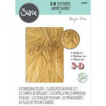 Sizzix Plaque embossage 3D Feuilles mortes