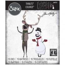 Sizzix Die Thinlits Renne & Bonhomme de neige