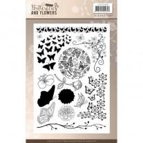 Étampes Jeanine's Art  Papillons & Fleurs