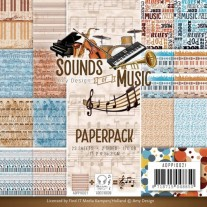 "Amy Design Pad 6""X6"" Sounds Of Music"
