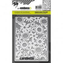 Carabelle Studio Plaque Embossage Avec Des Fleurs