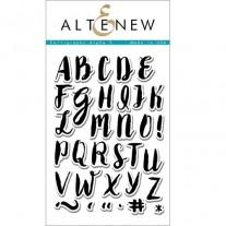 Étampe Altenew Calligraphy Alpha majuscule