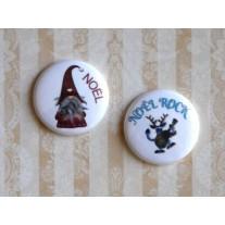 Herazz Badges Noël Rock