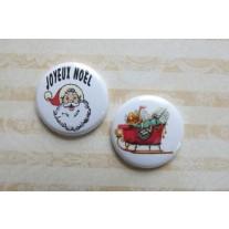 Herazz Badges Père Noël Traîneau