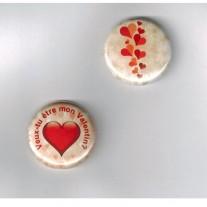 Herazz Badges Veux-tu être mon Valentin
