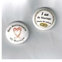 Herazz Badges Anniversaire de Mariage 1 an